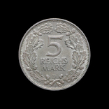 5 Марок 1925 Рыцарь, Германия photo 2
