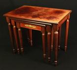 Винтажный тройной столик. Европа. (0650) photo 3