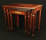 Винтажный тройной столик. Европа. (0650) photo 4