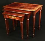 Винтажный тройной столик. Европа. (0650) photo 1
