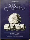 Повний набір 25 центів США, в альбомі. Всі штати і території 60 шт.