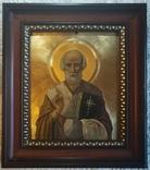 """Старовинна ікона """"Святий Миколай"""" та """"Хрещення""""."""