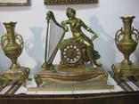 Бронзовые часы с вазами , более 30 кг photo 1