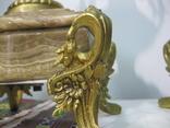 Бронзовые часы с вазами , более 30 кг photo 5