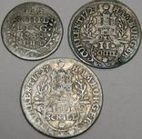 1, 2 и 4 шиллинга, Гамбург, 1727/38 г.г.