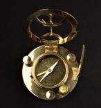 Морской прибор Компас Солнечные Часы Винтаж Латунь nr-615 photo 5