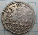 Трояк 1595 года Литва Сигизмунд III Ваза photo 3