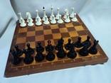 Большие шахматы с утяжелителем. Фигуры от 4,5 до 9,5 см. СССР.