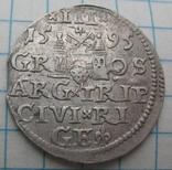 Трояк 1595 года Рига Сигизмунд III Ваза photo 1