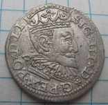 Трояк 1595 года Рига Сигизмунд III Ваза photo 3