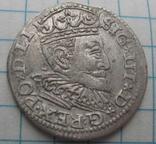 Трояк 1595 года Рига Сигизмунд III Ваза photo 4