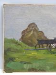 5/3781. Сельский пейзаж, тонкий картон,масло, 22,5х37 см. photo 2