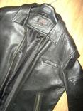 Фирменная кожаная куртка XL photo 2