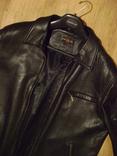 Фирменная кожаная куртка XL photo 3