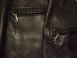 Фирменная кожаная куртка XL photo 6