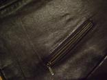 Фирменная кожаная куртка XL photo 7