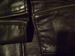 Фирменная кожаная куртка XL photo 9