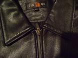 Фирменная кожаная куртка XL photo 14