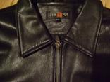 Фирменная кожаная куртка XL photo 15
