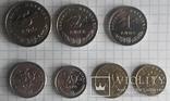 Хорватія - Підборка монет: 5, 2, 1 куна, 50, 20, 10, 5 липа, фото №2