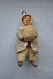 """Елочная игрушка """" Девочка с снежным комом"""" Вата"""