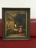 Картина ''Трактир'', Европа, малые голландцы (копия).