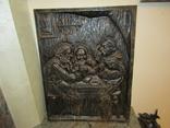 Огромная объёмная картина чугун украшение интерьера Германия 10 кг.
