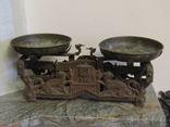 Старинные весы Winrech 10kg с латунными чашами и гирьками 4 шт. 1930 года