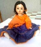 Кукла цыганка на резинках 36 см.