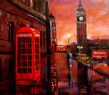 """""""Лондон"""", х.м., 40х45 ,Мацегора Елена, 2016 г"""