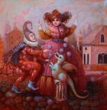 "Авторская картина ""Представление"" ,х.м. 40х40, Мацегора Елена"