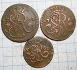 Грошики и полугрошик 1760 гг