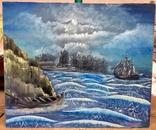 """Авторська робота """"Чарівне море"""" 100Х84см, 2010р."""