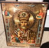 Николай Чудотворец под Левкасом Золото Эмали 22х18