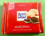 Шоколад RITTER sport. *Марципан*. 100 г. Производство - Германия.