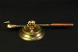 Латунный подсвечник Grillby Mässing с колпачком. Винтаж. Европа. (0670)