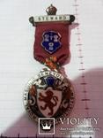Масонская медаль серебро 1925 год знак масон 1862