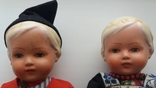 Куклы, композит, папье. Конец 40-х - начало 50-х годов.