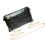 Клатч сумочка черный с цепочкой.