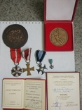 Комплект наград подполковника, разведчика. КЗ1+КЗ2+ОВ+польские награды. С документами. photo 3