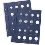 Лист в альбом VISTA для 2-х наборов евромонет, фото №2