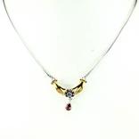 Ожерелье с камбоджийским цирконом и гранатами родолитами, фото №2
