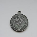 Медаль «В память Японской войны 1904-1905», серебро, фото №2