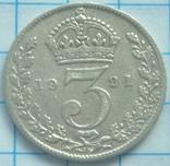 3 пенса, Великобритания, 1921г. photo 1