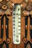Винтажная метеостанция. Holosteric-Barometer. Дерево. Резьба. Ручная работа.(0743) photo 4