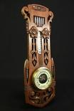 Винтажная метеостанция. Holosteric-Barometer. Дерево. Резьба. Ручная работа.(0743) photo 7