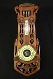 Винтажная метеостанция. Holosteric-Barometer. Дерево. Резьба. Ручная работа.(0743) photo 8