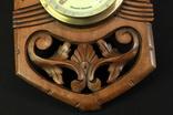 Винтажная метеостанция. Holosteric-Barometer. Дерево. Резьба. Ручная работа.(0743) photo 9