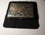Портсигар серебро 84 чернение позолота photo 4
