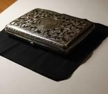 Портсигар серебро 84 чернение позолота photo 7